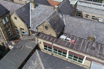 A Drone Roof Inspection at Dewsbury Hospital